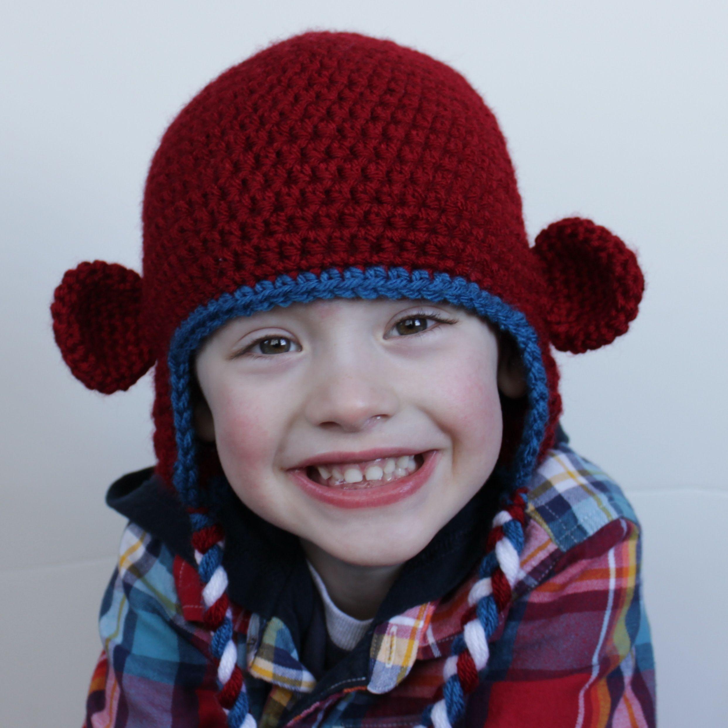 Crochet Monkey Hat | Syd\'s Board | Pinterest | Gehäkelte mützen ...