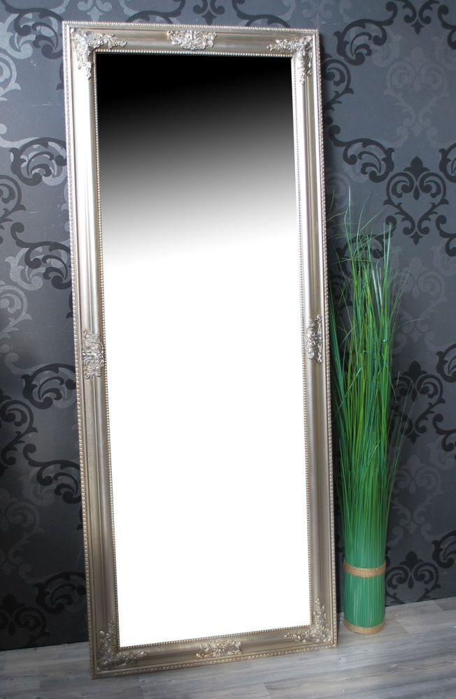 Details Zu Spiegel Wandspiegel Badspiegel Jana Silber Barock 150 X