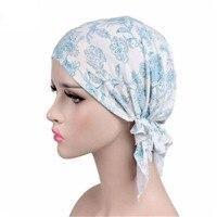 Womens Chemo Hat Turban Head Scarves Female New Fashion Pre-Tied Floral Printed Headwear Beanie New Head Scarf #tieheadscarves