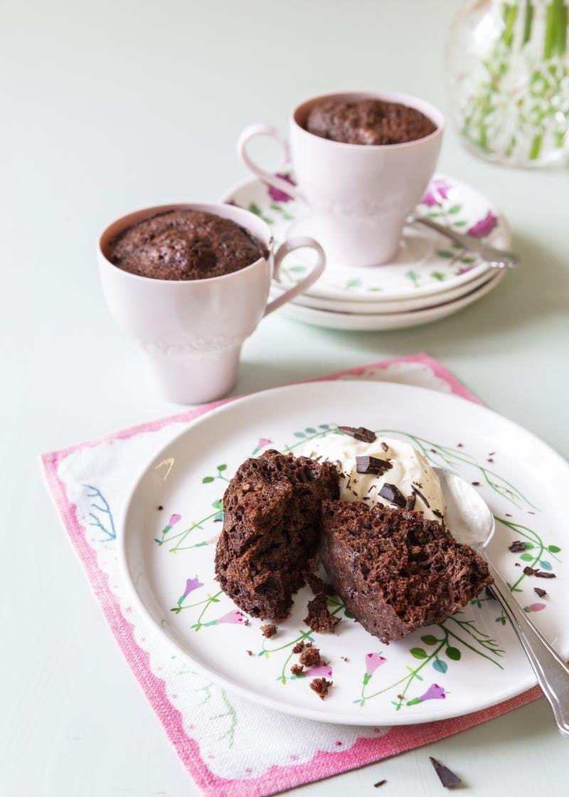 Muffin Keto De Chocolate En Taza Diet Doctor Receta Recetas De Tazas Keto Postre Keto