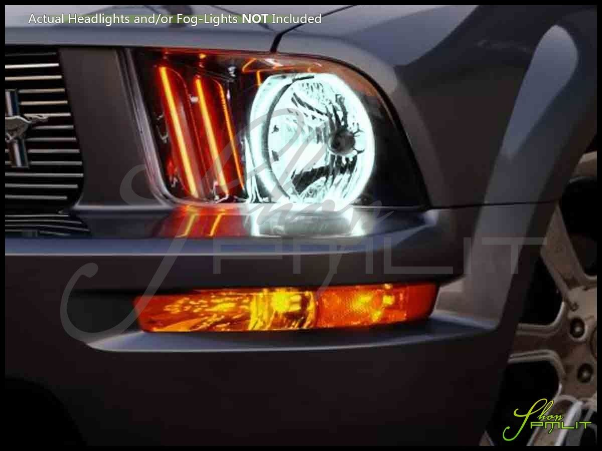 Oracle 05 09 Ford Mustang Led Dual Color Halo Rings Headlights Bulbs Ford Mustang Mustang Ford