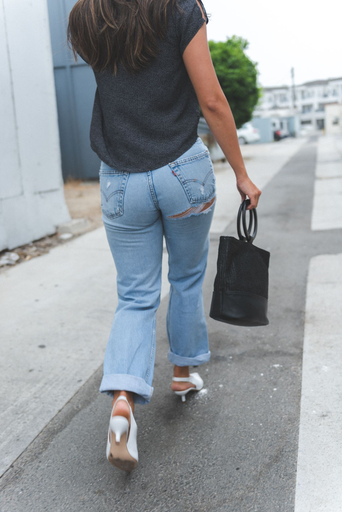 The Shoe Style Your Closet Has Been Craving Style Report Magazine Heels Outfits Denim Fashion Street Style Outfit