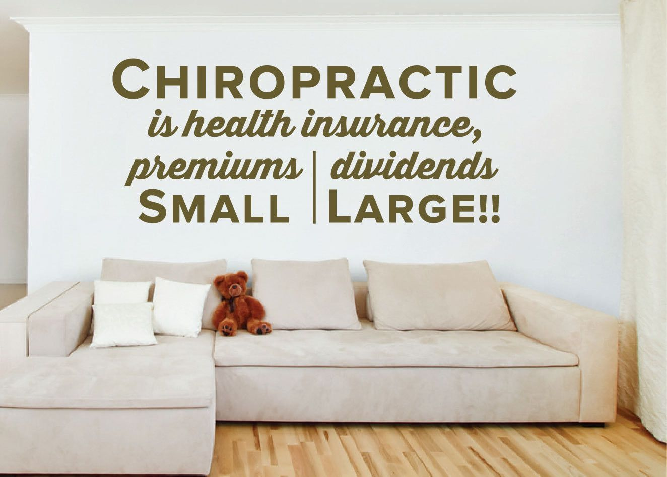 Chiropractic is health insurance premiums small dividends