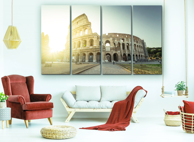 Italy Wall Art Italy Rome Colosseum Prints Wall Decor Office Wall Art City Art Home Decor Canvas Prin Italian Home Decor Italy Wall Art Train Decor
