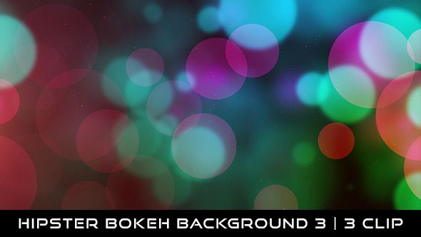 Hipster Bokeh Background 3 Full HD 1920×1080 | Seamless Looped Video