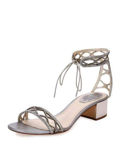 39eb3cfc4ec RENÉ CAOVILLA Crystal-Studded 40Mm Ankle-Tie Sandal