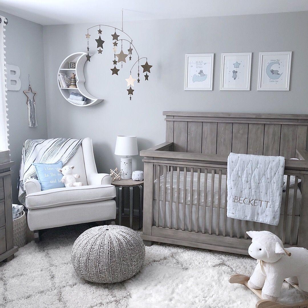 Star And Moon Nursery Nursery Baby Room Baby Boy Room Nursery
