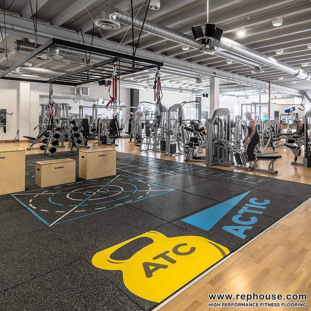 Neoflex Premium Gym Tiles With Functional Floor Markings At Actic In