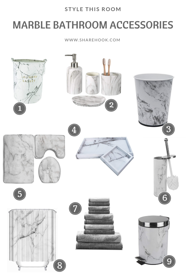 Marble Bathroom Accessories With