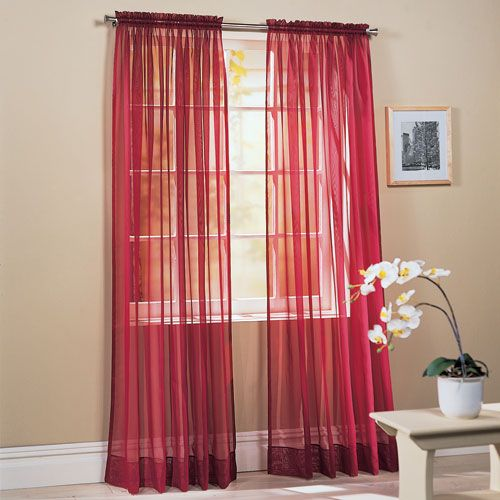 sheer curtains but in brown | House stuffs | Pinterest | Red ...