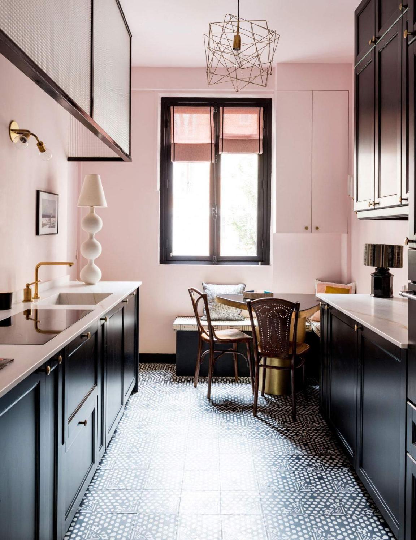 16dvfdvdfv pink kitchen walls grey kitchen cabinets kitchen interior on kitchen decor pink id=52190