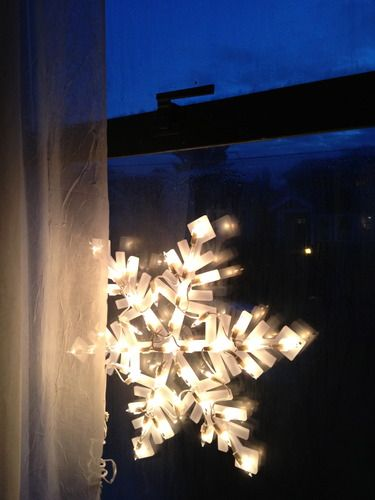 amazoncom impact innovations christmas lighted window decoration snowflake