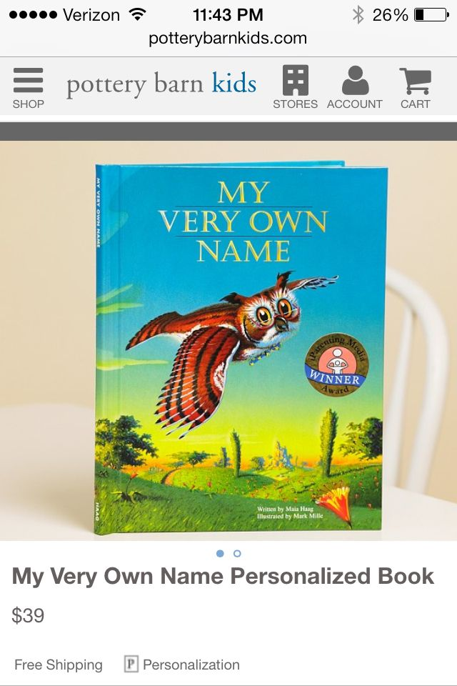 Such a cute idea for teaching kids how to spell their names by my very own name storybook personalized book for your child my parents did this one year for christmas for all of us kids and i loved it negle Image collections