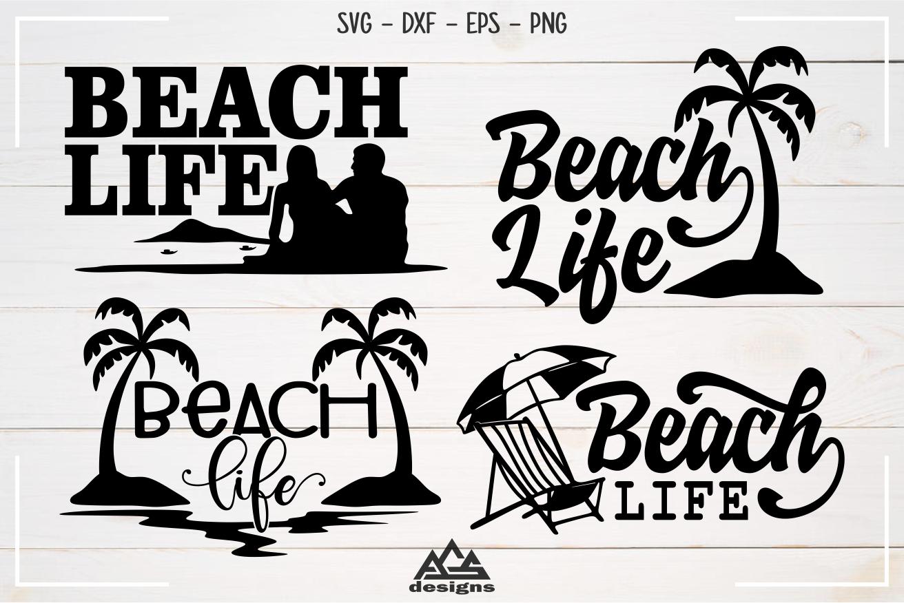 Beach Beach Life Svg Design в 2020 г