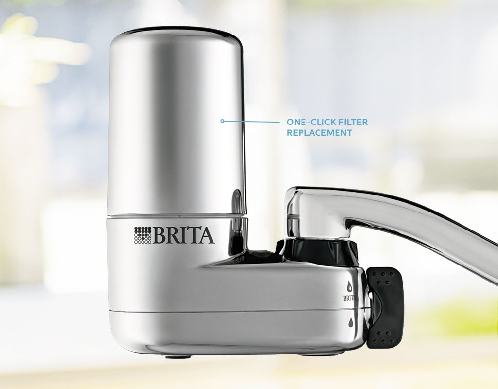 Faucet Filter: Mounts To Kitchen Water Faucet | Brita®. BPA Free, 40% More  Space Efficient Than The Leading Faucet Mount System, And Features Easier  1 Click ...