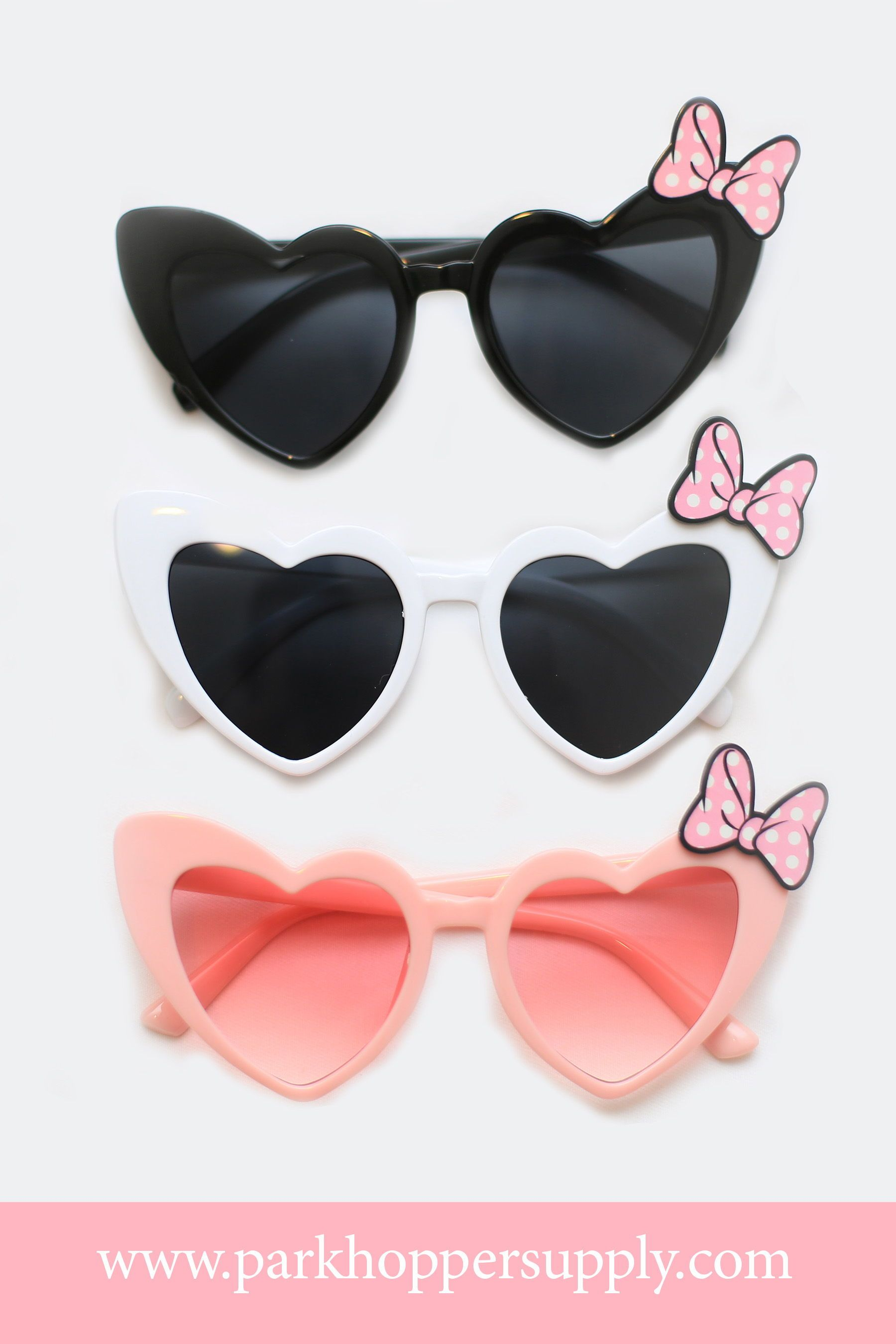 fd8dae1803ec Heart Shaped Minnie Sunglasses in 2019 | Park Hopper Supply Products ...