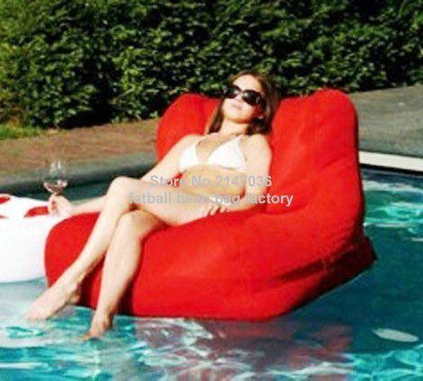 Red Outdoor Waterproof Bean Bag Chair, External Beanbag Seat Furniture In  Your Pool Part 48