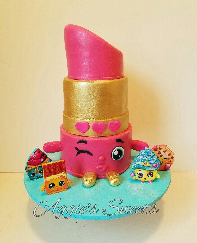 Lippy Lips Shopkin Cake