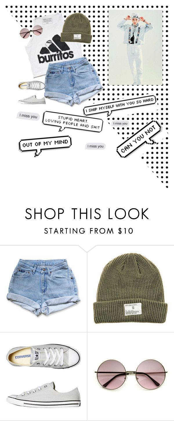 """""""Taeyong date"""" by its-just-me-and-kpop ❤ liked on Polyvore featuring Urban Outfitters, Dark Seas and Converse"""