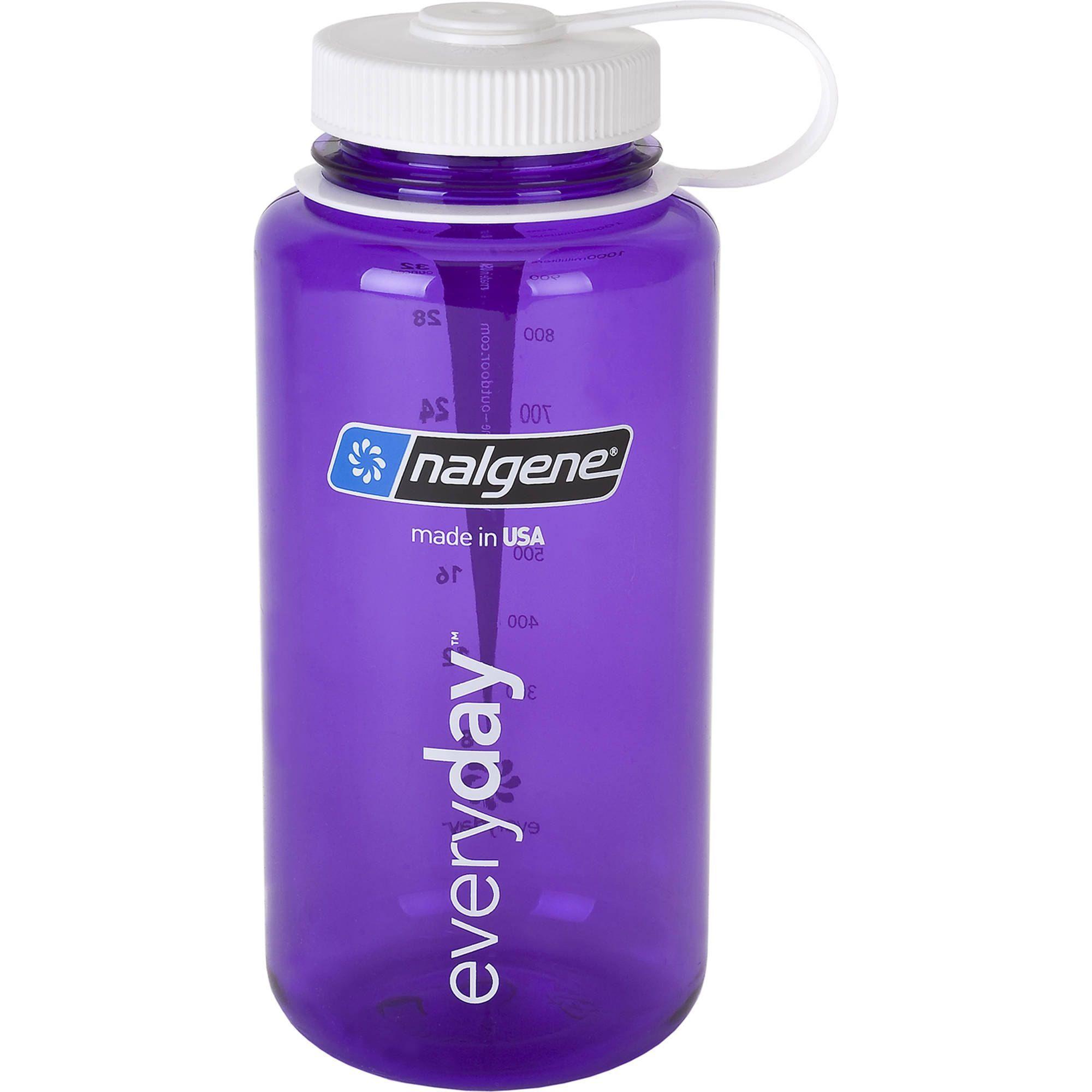 Wide Mouth Water Bottle Blue w// White Cap BPA Free Nalgene 32 oz