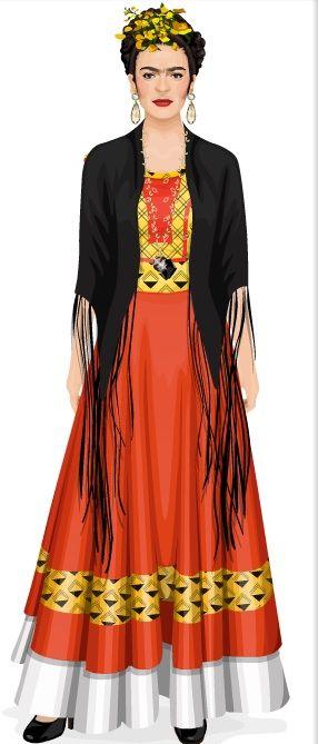 Frida Muñeca De Straroll Diseño Para Parecerse A Ella