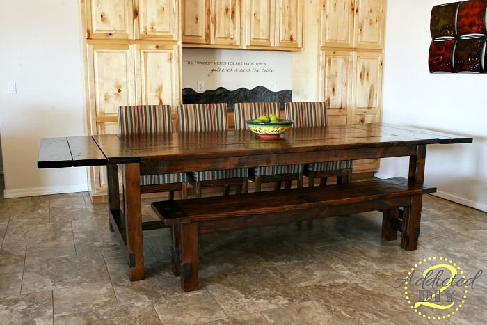 Diy Farmhouse Table With Extensions In The Woodshop Farmhouse