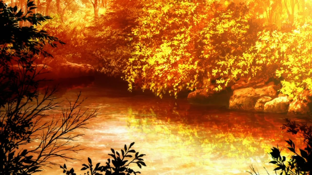 Anime Fall Leaves | Anime scenery, Fall background, Scenery