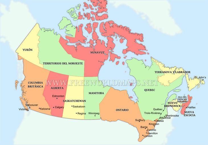 Mapa politico de canada buscar con google mapas pinterest mapa politico de canada buscar con google gumiabroncs Gallery