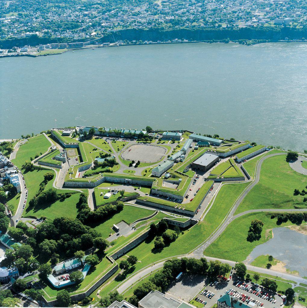 Citadelle De Quebec Aerial View Of Quebec City S Citadel Quebec