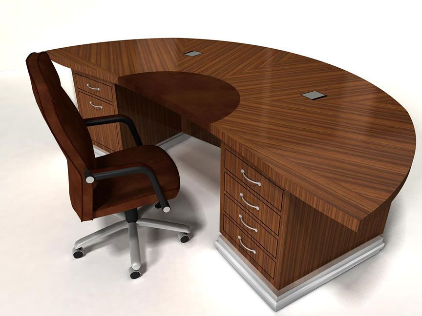 Exquist Half Round Custom Wood Desk Custom Built To Order Curved