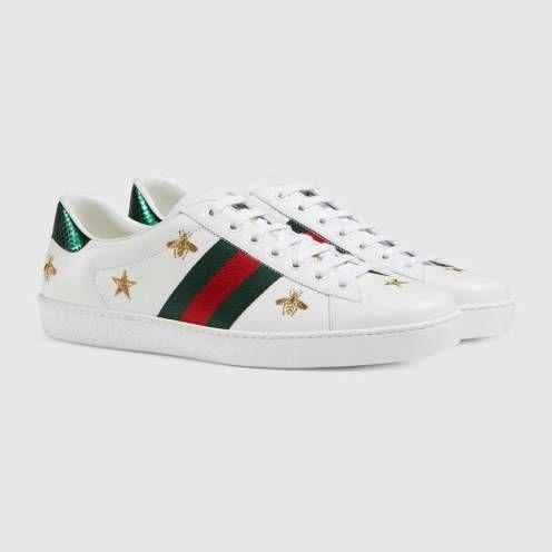 Collection de baskets Gucci Ace   Mode Fashion   Sneakers, Gucci et ... d221d0c0421b