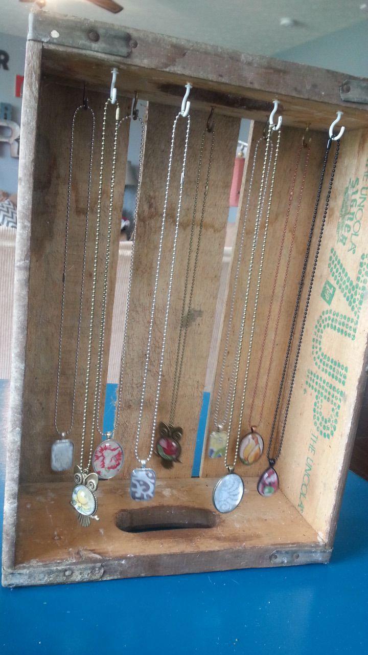 Vintage soda crate jewelry organizer display COCA COLA CRATES