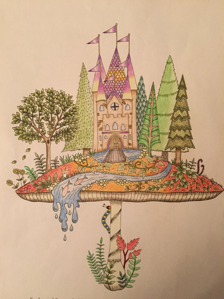 From Enchanted Forest By Johanna Basford Coloured Using FC Polychromos WH Smith Pencils And White