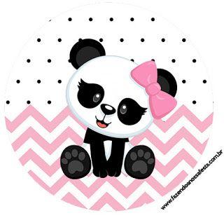 Panda Bebe En Zigzag Rosa Toppers Para Cupcake Para Imprimir Gratis Panda Bebe Decoraciones De Panda Panda