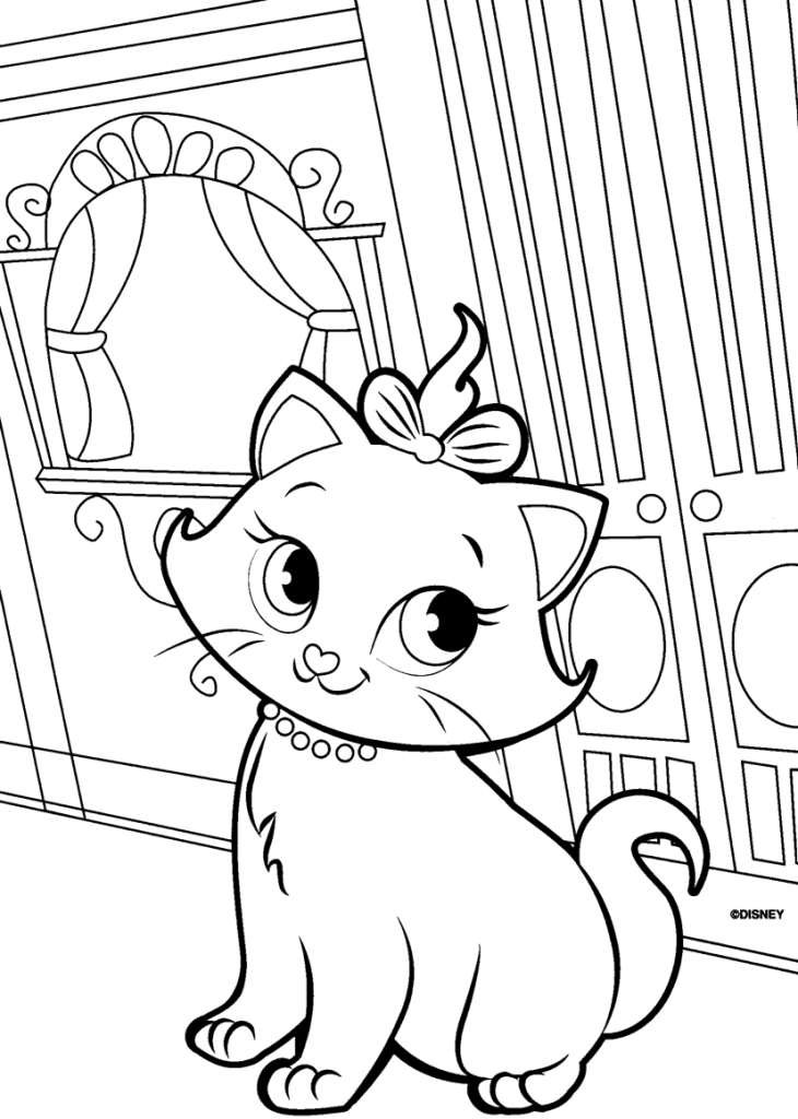 Free Printable Marie Coloring Pages 9 For Kids Print Out Your Own And Books Now