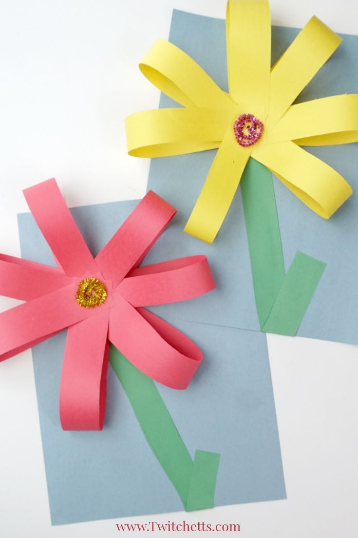 Giant Paper Flowers Construction Paper Crafts For Kids