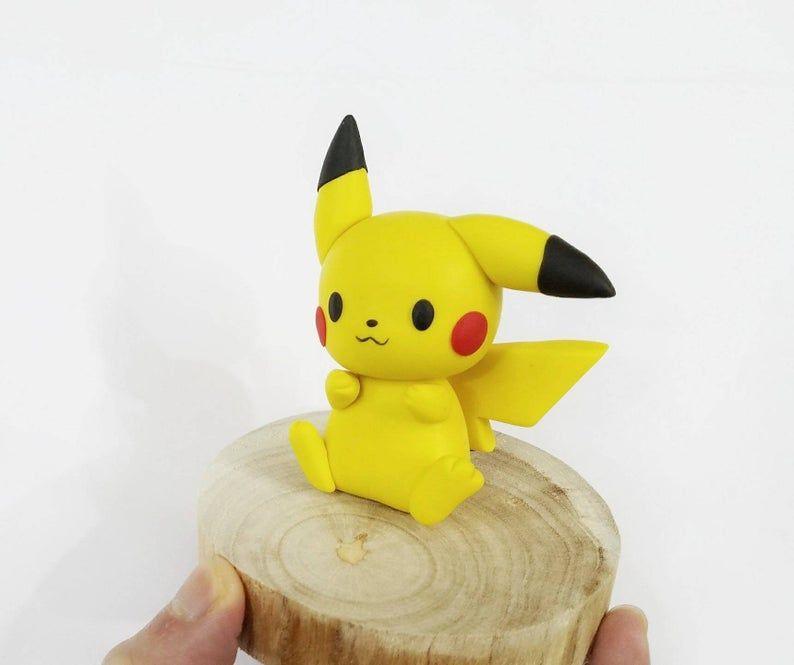Combo 4 Started Pokemon In Cute Version Pokemon Clay Figure Etsy Pokemon Pikachu Cute Clay