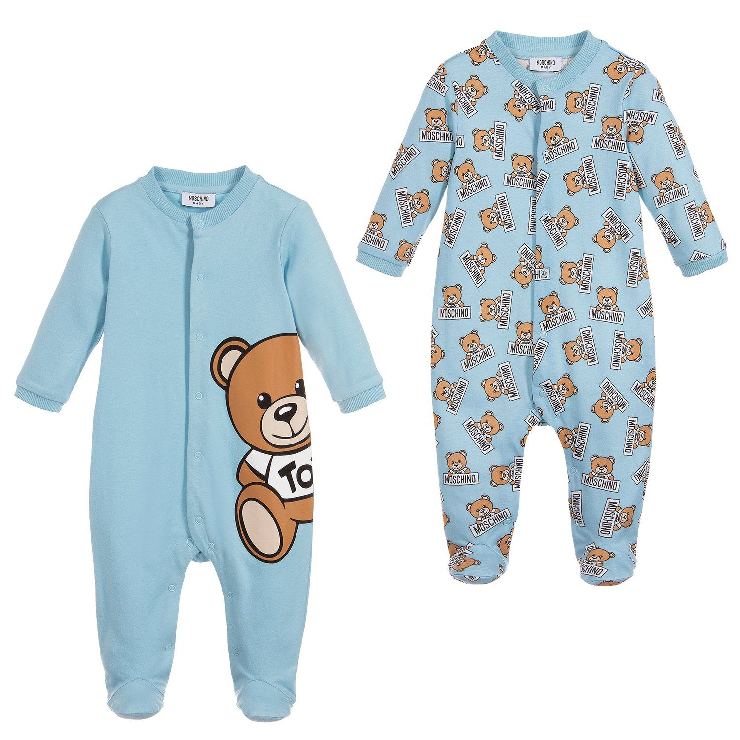 2e1c6273354d Moschino Baby Boys Blue Romper Two Piece Gift Set – Petit New York