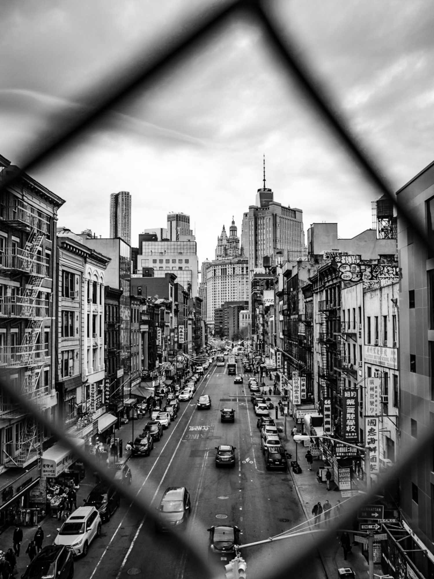 New York Streets Black And White