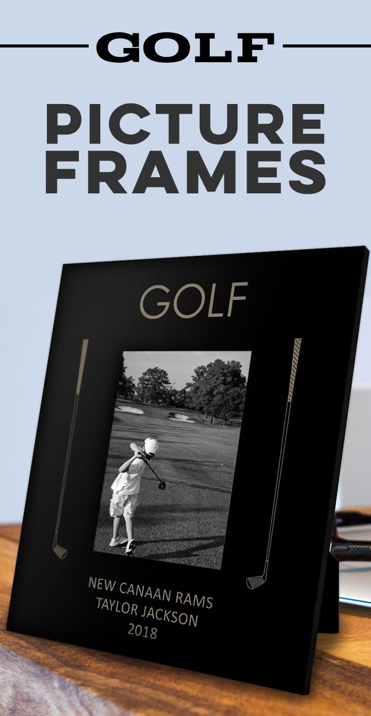 Showcase your Rory Mcllroy-like perfect golf swing forever or capture the times you feel like Jordan Speith with a first hole in one with a personalized engrave picture frame. Several styles and designs to choose from.