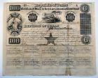 1840 Republic of Texas $100 Treasury Bond Certificate ORIGINAL, AUTHENTIC & RARE