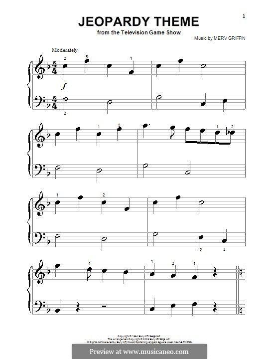 Jeopardy Theme Music I Love Sheet Music Sheet Music Direct