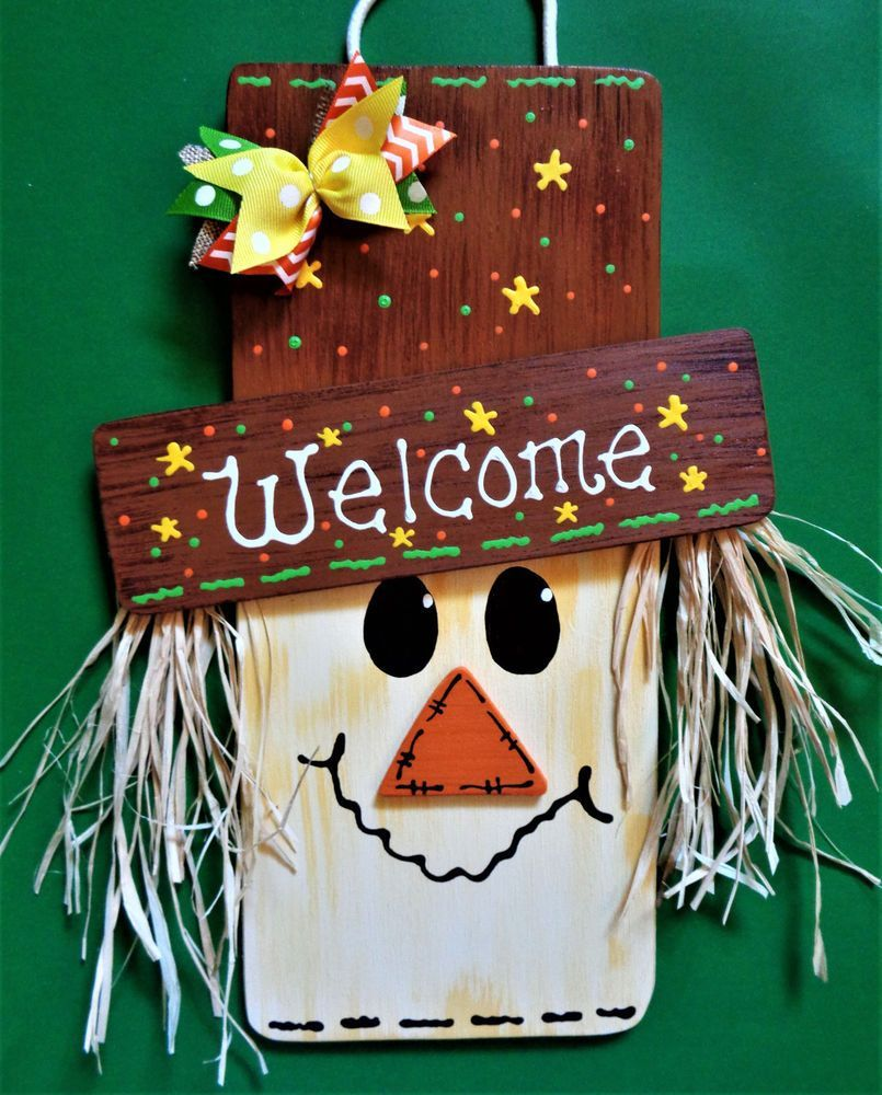 FALL SCARECROW SIGN Halloween Thanksgiving Holiday Wall