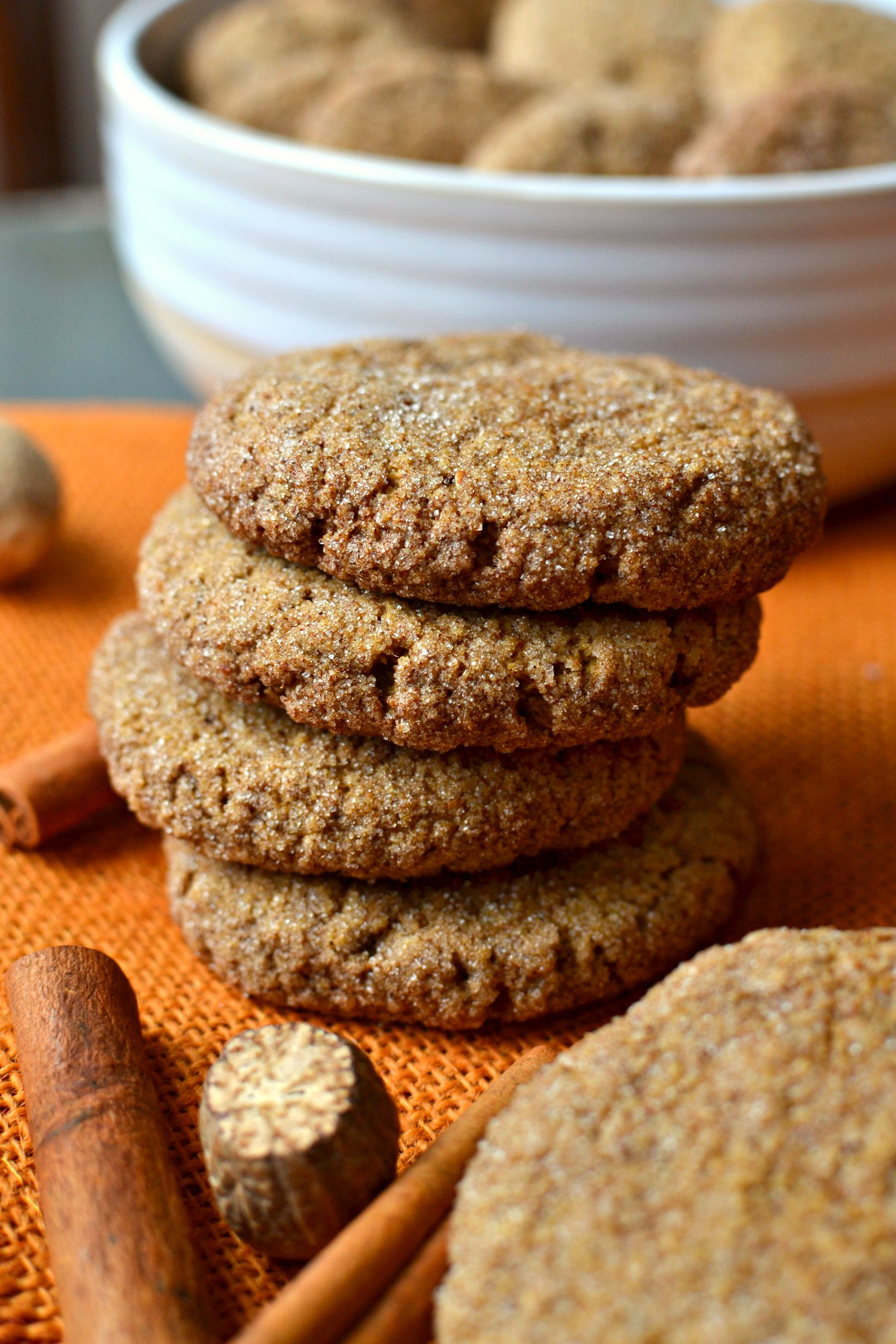 Gluten free vegan pumpkin snickerdoodles recipe