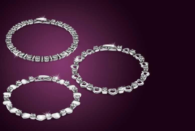 Tennis Bracelet Made With Swarovski Elements 3 Designs