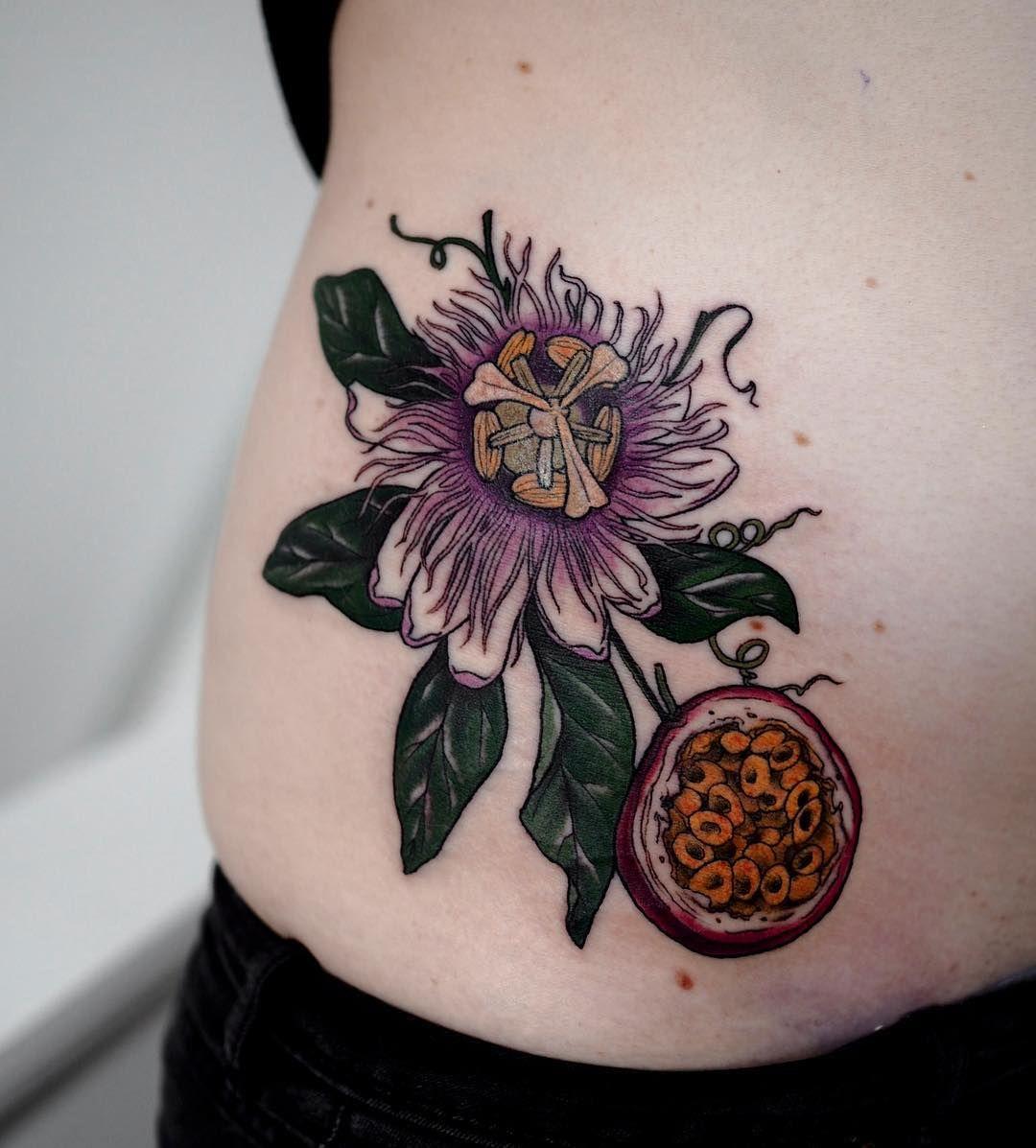 Sophia Baughan Passionflower Tattoo Fruit Tattoo Body Art Tattoos Tattoos