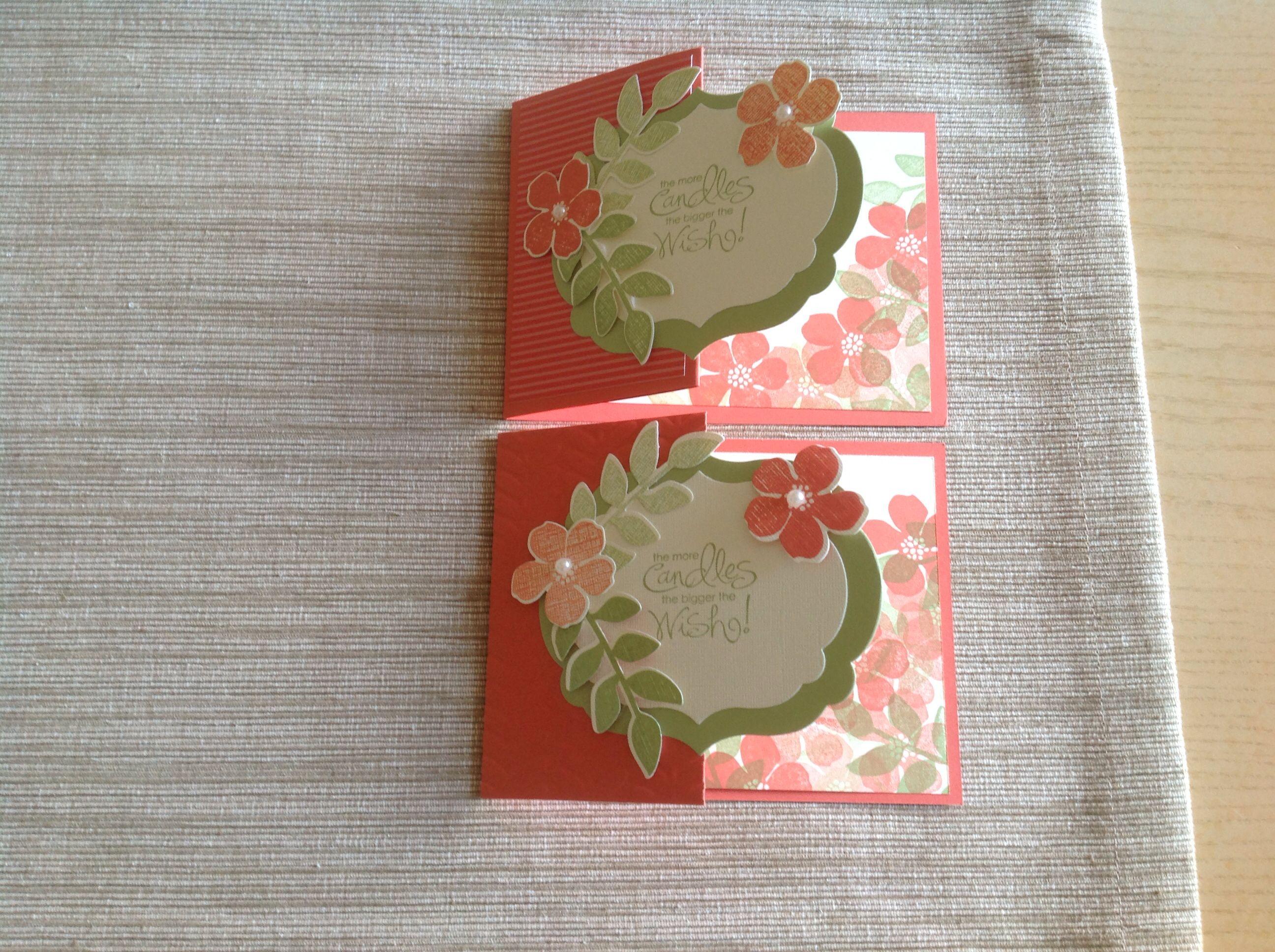 flower shoppe  fancy fold cards greeting cards handmade
