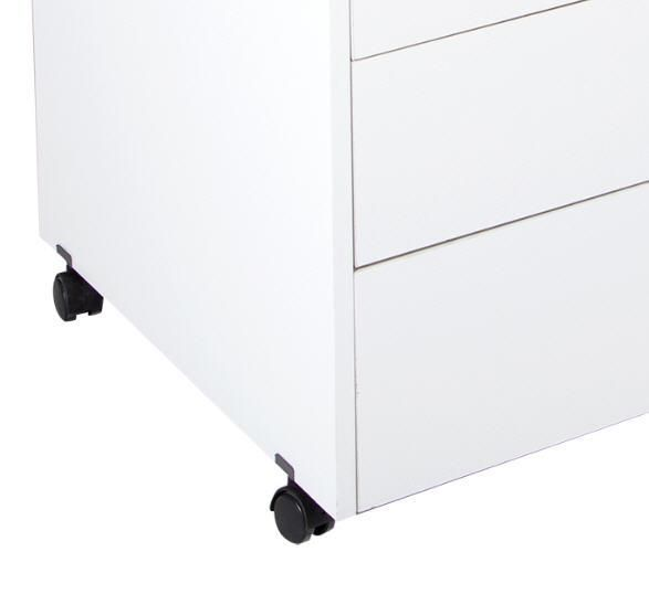 Amazon.com: South Shore Crea Sewing Craft Table On Wheels, Pure White