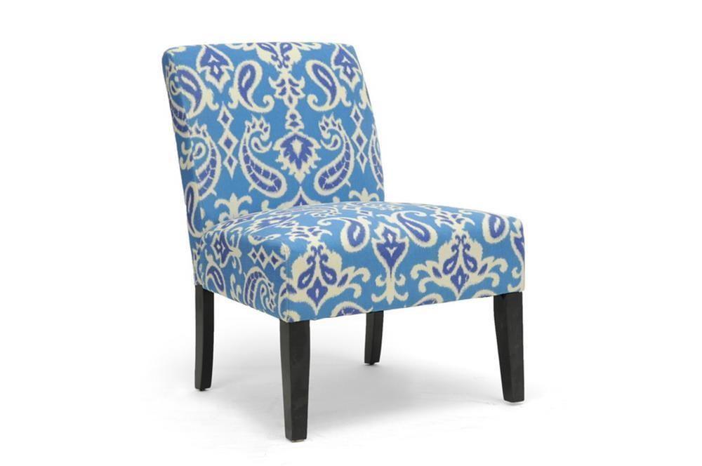 Best Elisabet Modern Contemporary Blue Indigo Beige Paisley 640 x 480