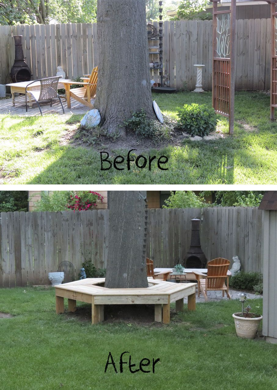 14 id es cr atives pour habiller votre arbre de jardin. Black Bedroom Furniture Sets. Home Design Ideas